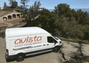 Avista van in front of Mountain Winery Saratoga ampitheater