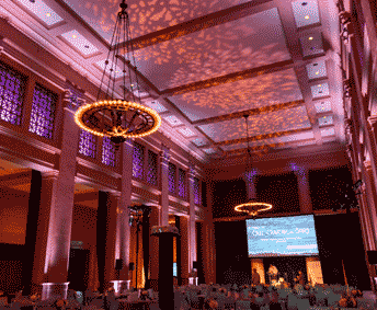 bently reserve lighting for gala awards dinner